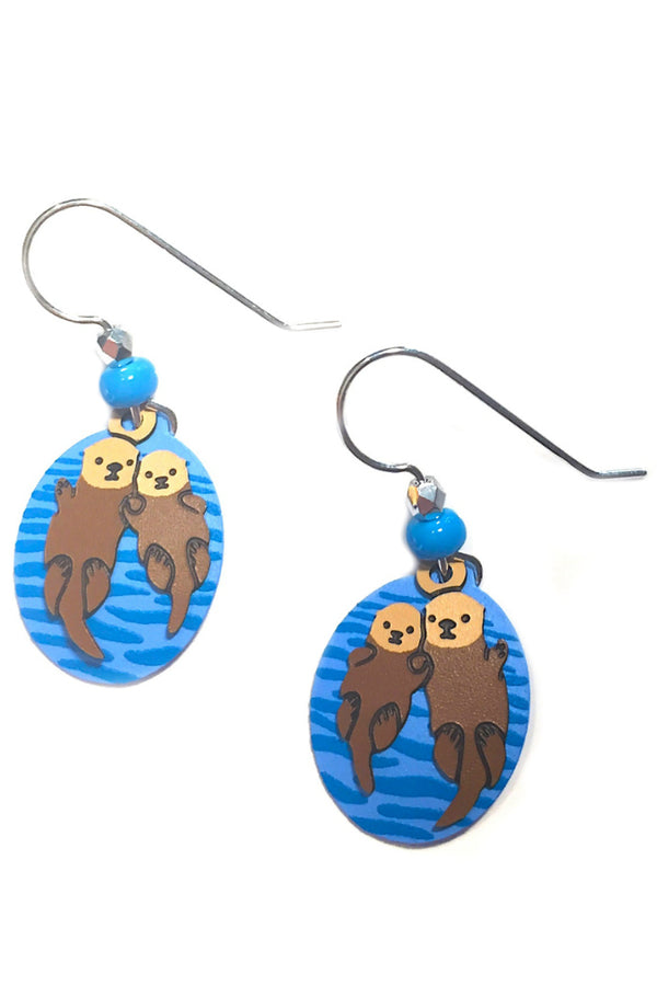Otter Love Earrings by Sienna Sky, $19 | Sterling Silver | Light Years