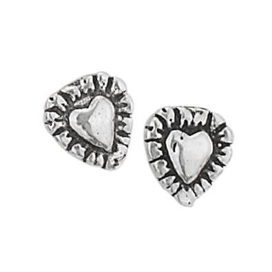 Outlined Heart Posts, $11 | Sterling Silver Stud Earrings | Light Years Jewelry