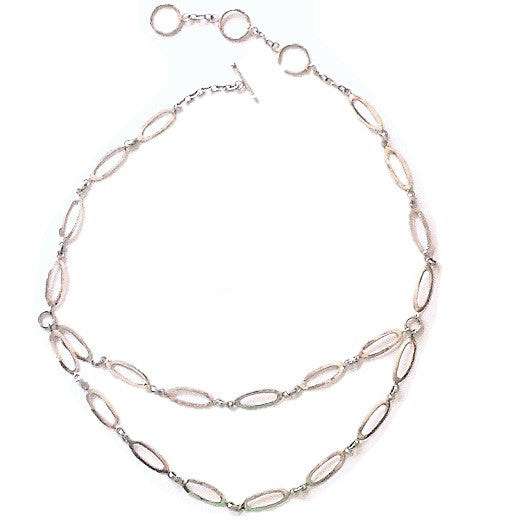 Open Oval Link Necklace $88 | Sterling Silver | Light Years Jewelry