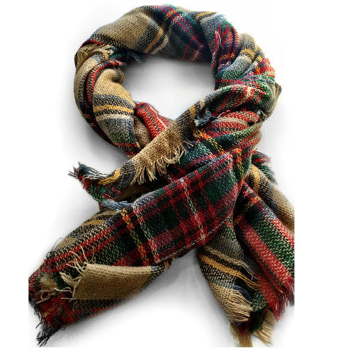 Oversized Plaid Blanket Scarf, $18 | Light Years Jewelry