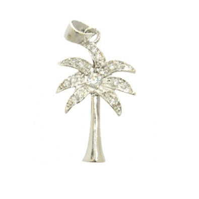 Palm Tree Pendant and Chain, $22 | Sterling Silver, Cubic Zirconia