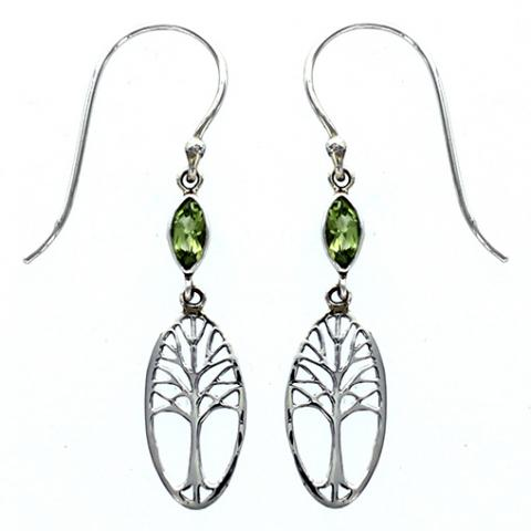 Tree of Life with Stone Earrings, $22 | Sterling Silver | Light Years