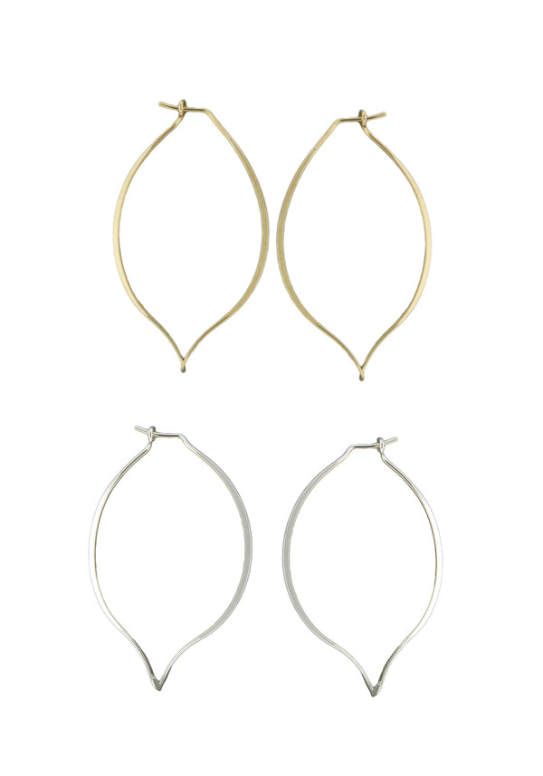 Petal-Point Hoop Earrings | Sterling Silver Gold Fill | Light Years
