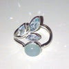 Chalcedony Leaves Ring, $32 | Sterling Silver | Light Years Jewelry