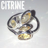 Citrine Leaves Ring, $32 | Sterling Silver | Light Years Jewelry
