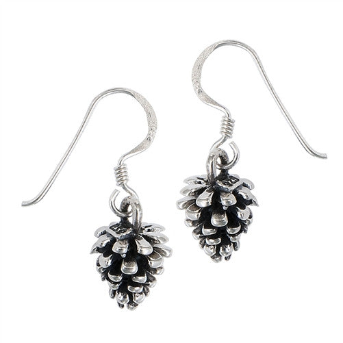 Sterling Silver Pine Cone Dangles, $16 | Light Years Jewelry