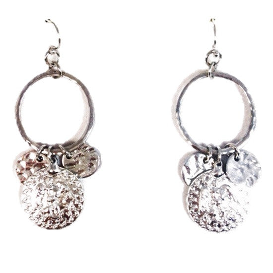 Silver Greco Roman Coin Earrings, $9 | Fashion | Light Years Jewelry