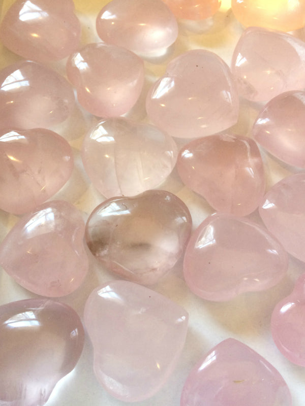 Carved Gemstone Hearts Tokens | Rose Quartz & Jasper | Light Years