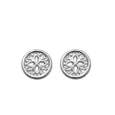 Sterling Silver Round Filigree Posts, $11 | Light Years Jewelry
