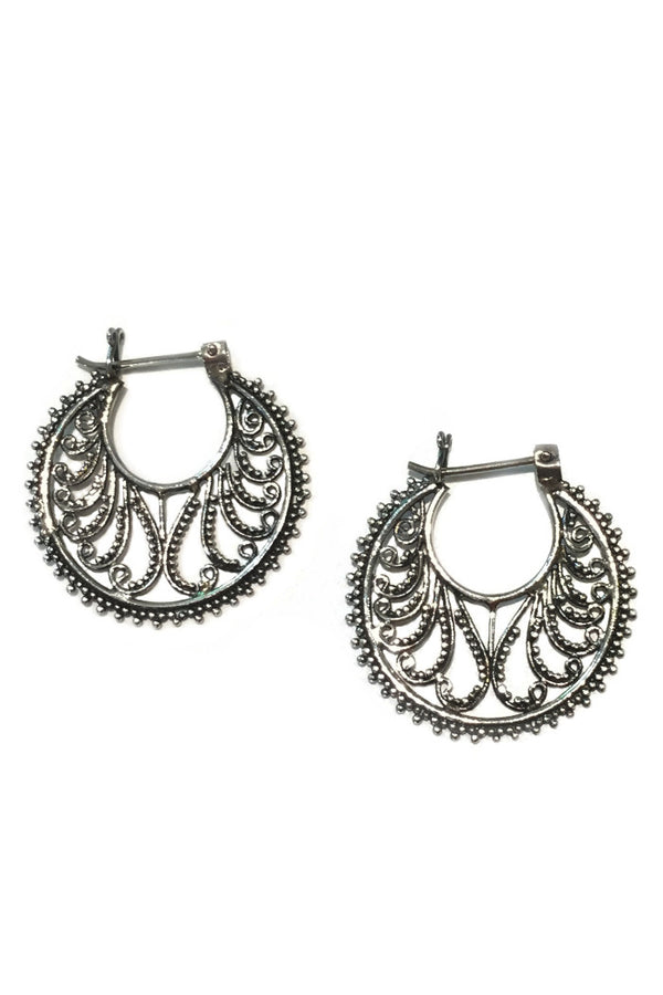 Filigree Hoop Earrings, $24 | Sterling Silver | Light Years Jewelry
