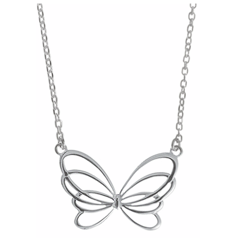 Silver Butterfly Necklace, $32 | Sterling | Light Years Jewelry
