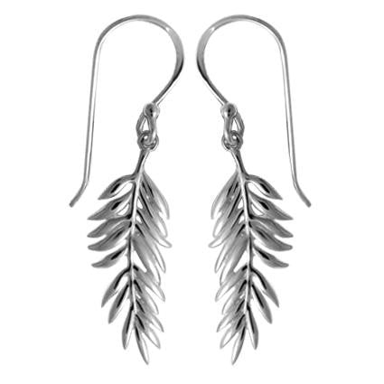 Sterling Silver Leaves Dangles, $22 | Light Years Jewelry