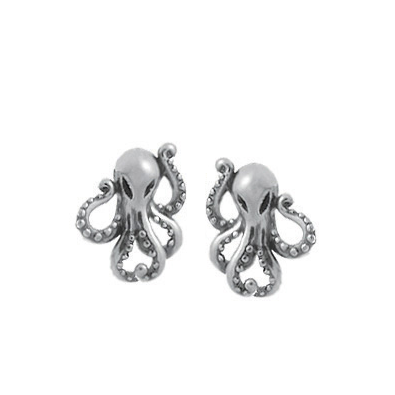 Silver Octopus Posts, $17 | Sterling Stud Earrings | Light Years Jewelry