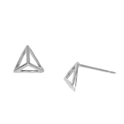 Silver Triangular Pyramid Posts, $10 | Sterling Stud Earrings | Light Years Jewelry