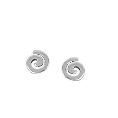 Silver Spiral Posts $11 | Sterling Stud Earrings | Light Years Jewelry