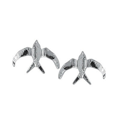 Silver Swallow Posts, $10 | Sterling Stud Earrings | Light Years Jewelry