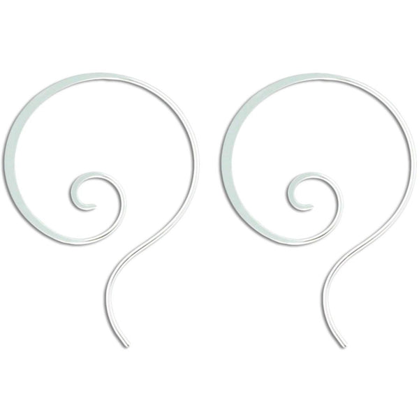 Swirl Hoop Earrings, $15 | Sterling Silver, Gold Filled | Light Years