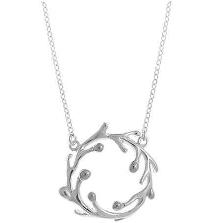Sterling Silver Wreath Pendant, $32 | Light Years Jewelry