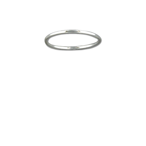Thin Rounded Silver Band