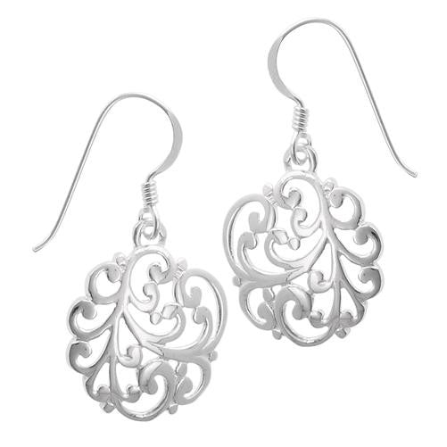 Swirly Filigree Earrings, $16 | Sterling Dangles | Light Years Jewelry
