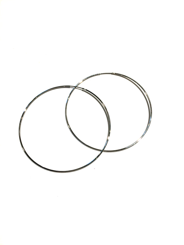 Large Thin Endless Hoops, $9 | Silver Plated | Light years Jewelry