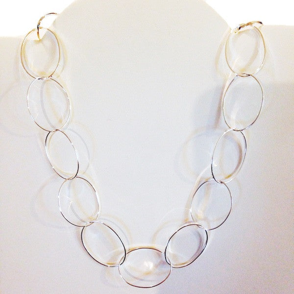 Silver loops necklace, $44 | Sterling Silver | Light Years Jewelry