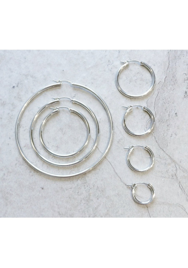 Sterling Silver Pincatch Hoops
