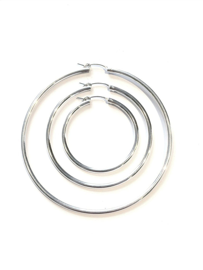 Sterling Silver Pincatch Hoops, $8-22 | Sterling Silver | Light Years