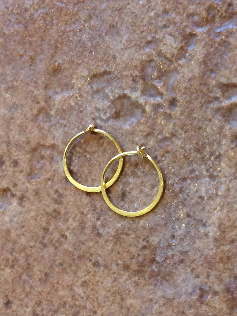 Small Flat Hoops | Sterling Silver and Gold Filled | Light Years