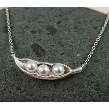 Snow Peas Necklace, $22 | Silver Plate | Light Years Jewelry
