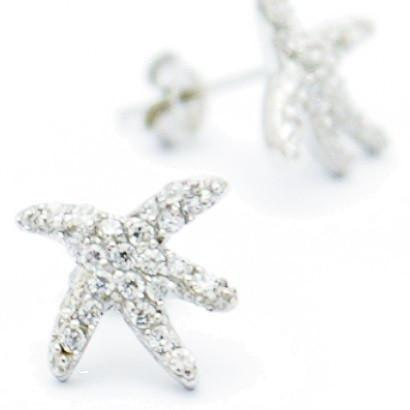 Crystal Starfish Posts $22 | Sterling Silver Stud Earring | Light Years Jewelry