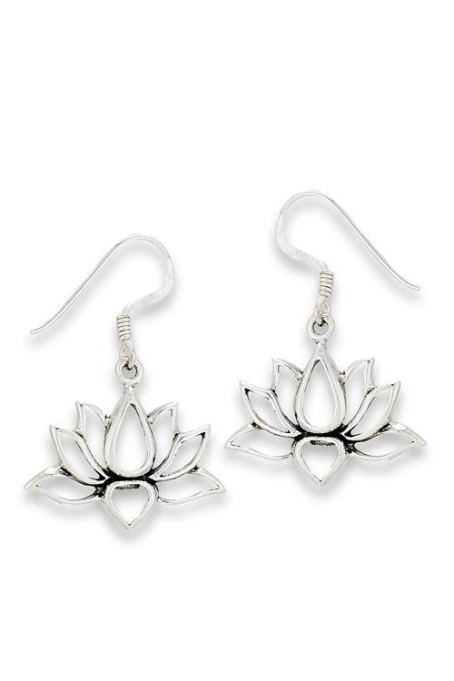 Open Lotus Earrings, $16 | Sterling Silver | Light Years Jewelry
