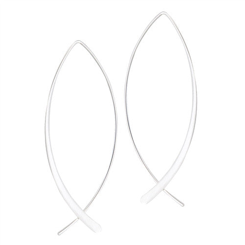 Simple Curved Dangles, $16 | Sterling Silver | Light Years Jewelry