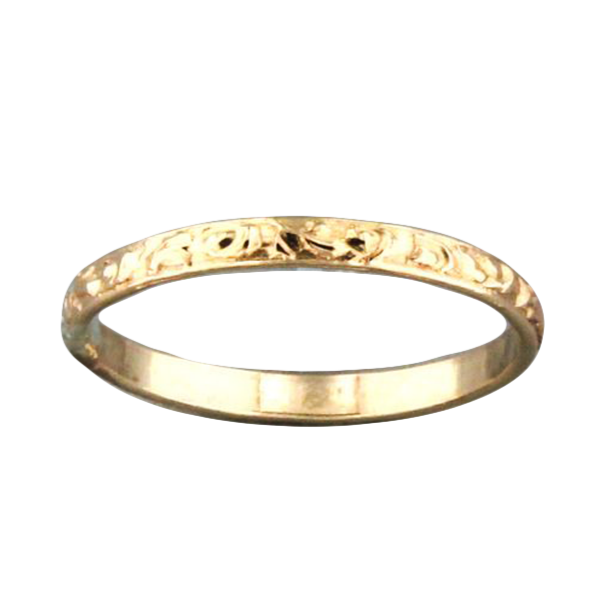 Swirl Gold Band, $12 | 14 kt Gold Filled | Light Years Jewelry