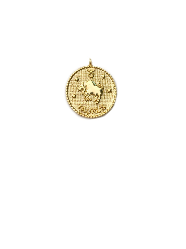Zodiac Medallion Necklace | Taurus | Gold Plated Chain Pendant | Light Years