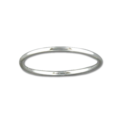 Thin Rounded Band Ring | Sterling Silver Size 3 4 5 6 7 8 9 10 | Light Years
