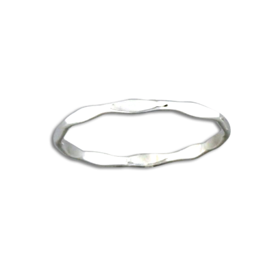 Thin Sterling Silver Hammered Band | Size 5 6 7 8 9 10 | Light Years