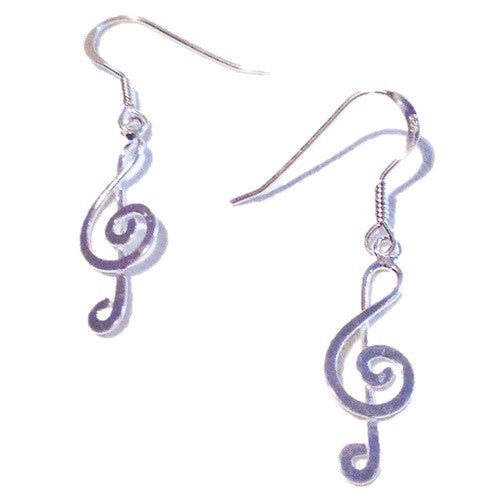 Treble Clef Dangles, $14 | Sterling Silver | Light Years Jewelry