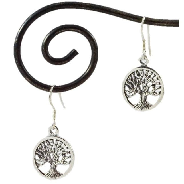 Tree of Life Earrings | Sterling Silver Dangles | Light Years Jewelry