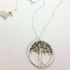 Handmade Tree Pendant With Chain $54 | Sterling Silver and Labradorite