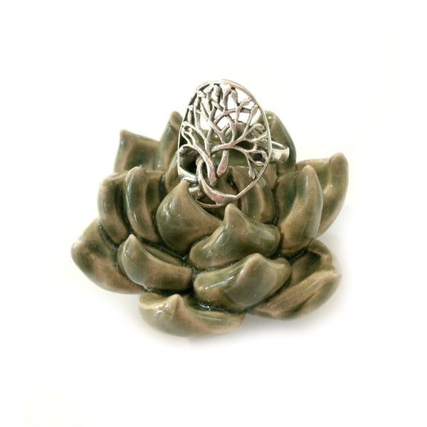 Braided Tree Of Life Ring | Sterling Silver Sizes 5-10 | Light Years
