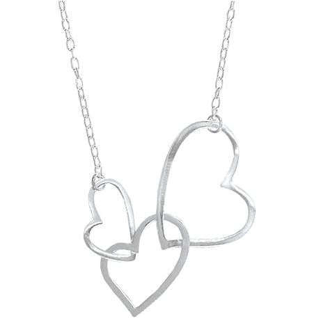 Sterling Silver Triple Hearts Necklace, $24 | Light Years Jewelry