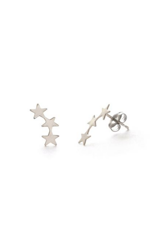 Star Cluster Posts | Silver or Gold Stud Earring | Light Years Jewelry