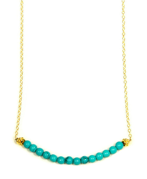 Gold Filled Turquoise Row Necklace, $40 | Light Years Jewelry