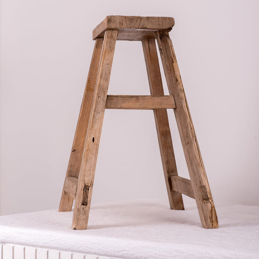 Chinese Elm Worker Stool