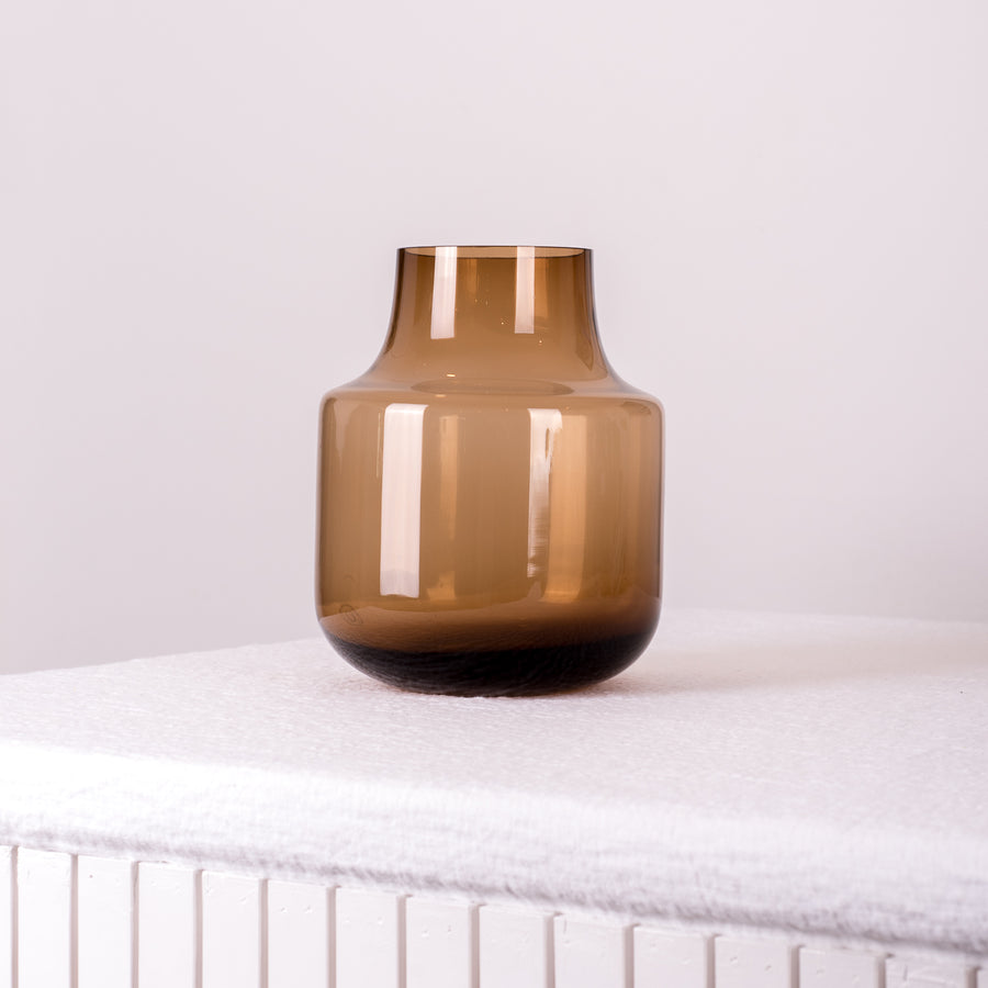Loren Amber Glass Vase