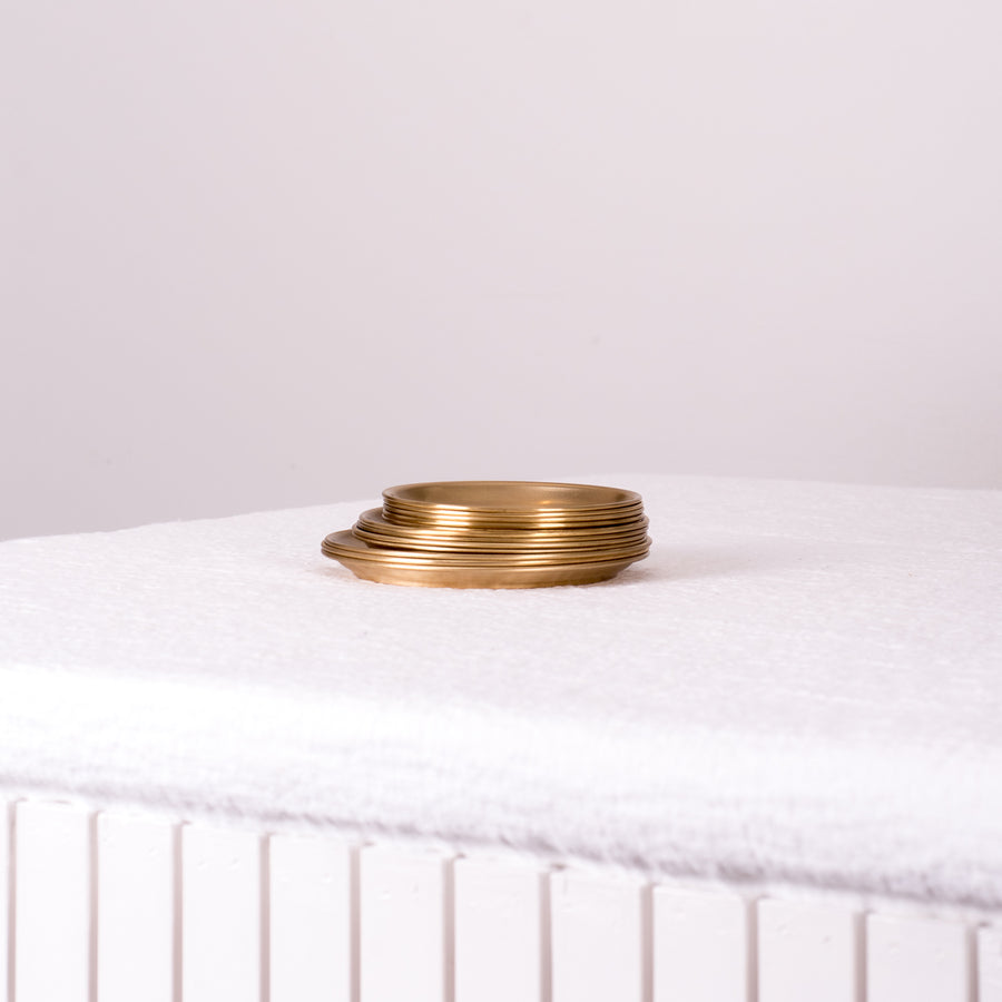Mini Round Brass Trays