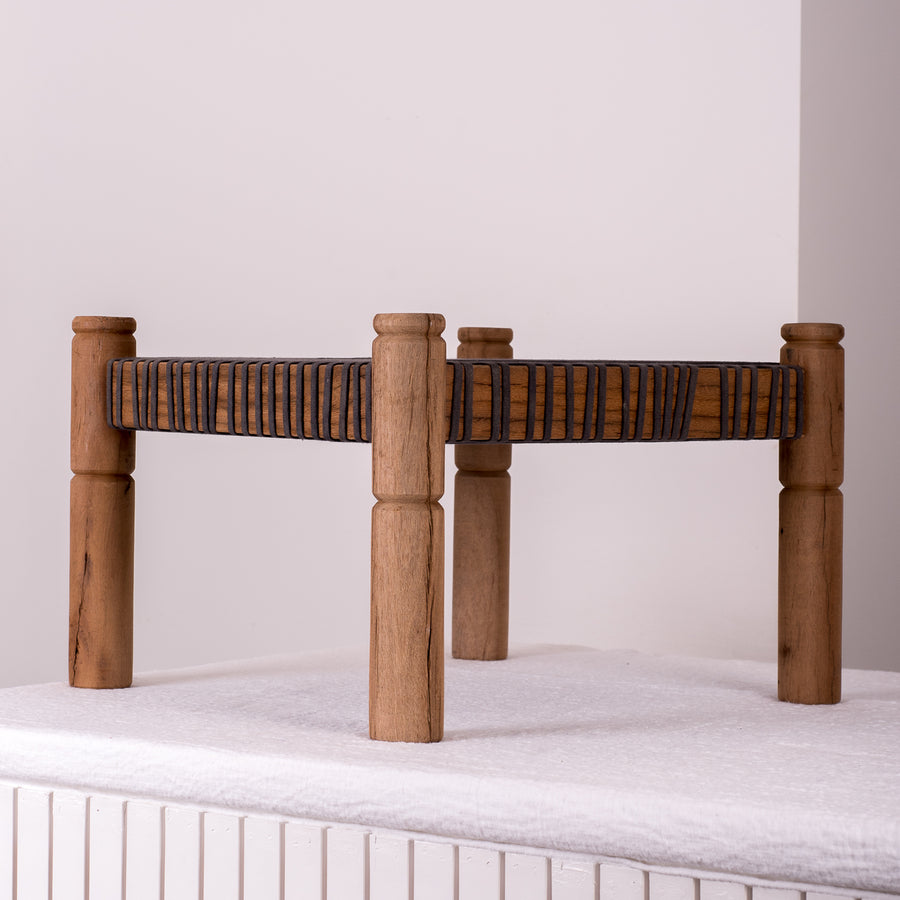 Rope Square Stool