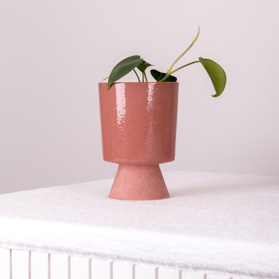 Stoneware Plant Pot Mauve - 2 sizes
