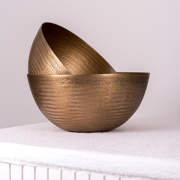 Textured Brass Finish Bowl